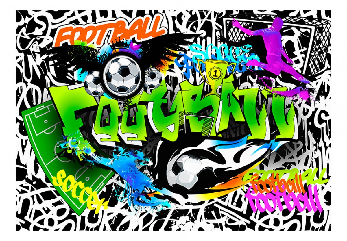 Dìtská fototapeta Graffiti fotbal - zvìtšit obrázek