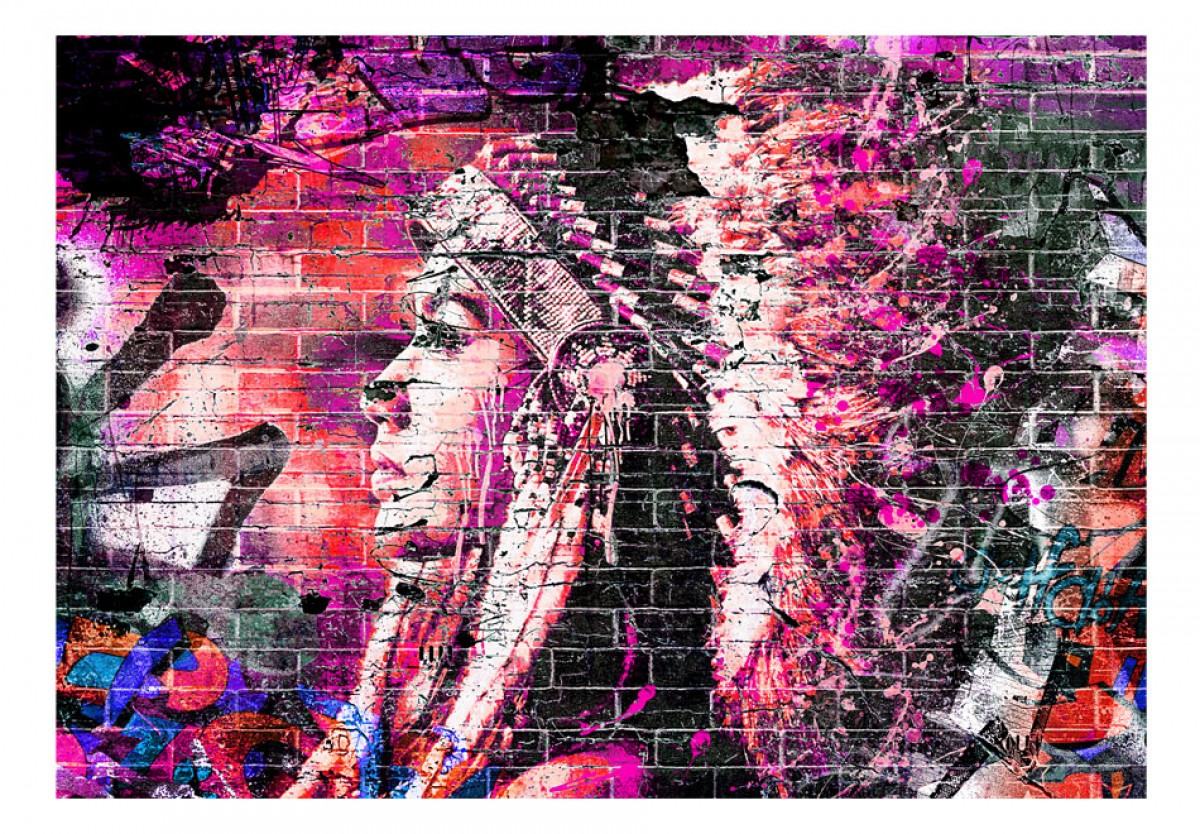 Dìtská fototapeta Graffiti indián - zvìtšit obrázek