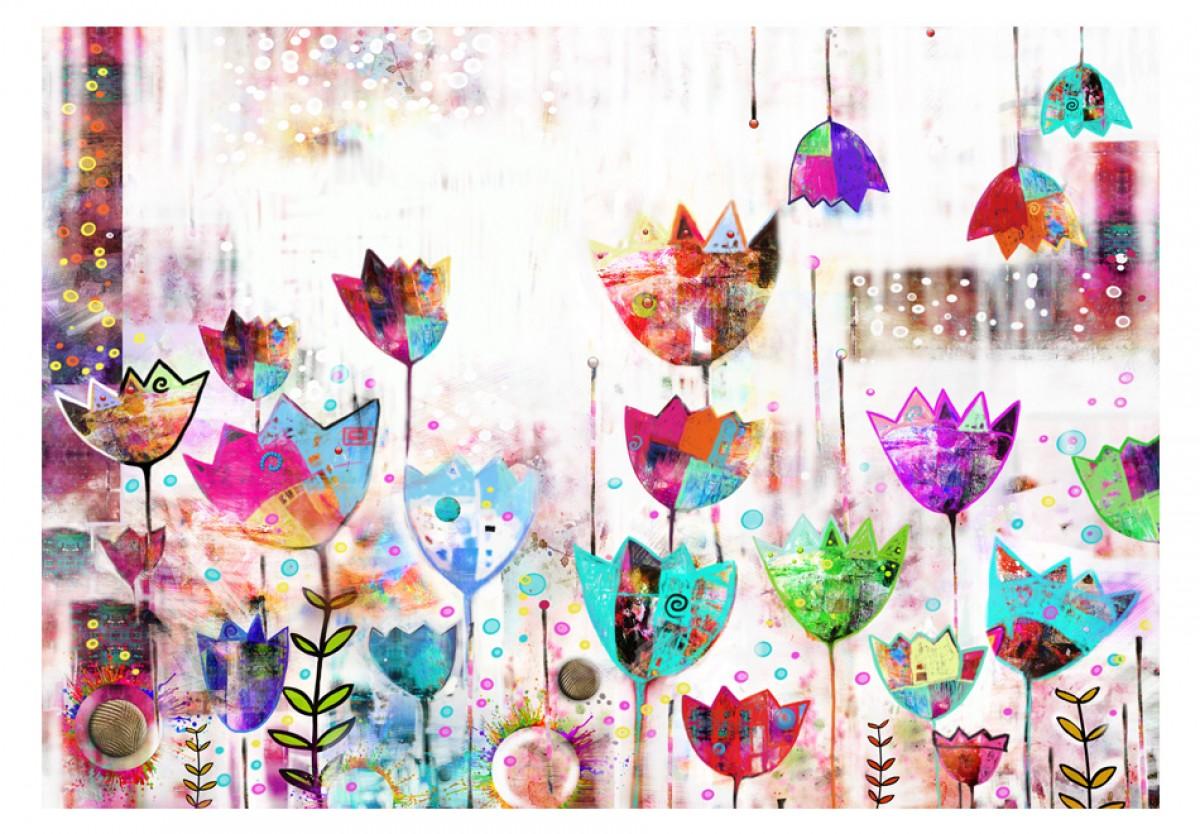 Dìtská fototapeta Malované tulipány - zvìtšit obrázek