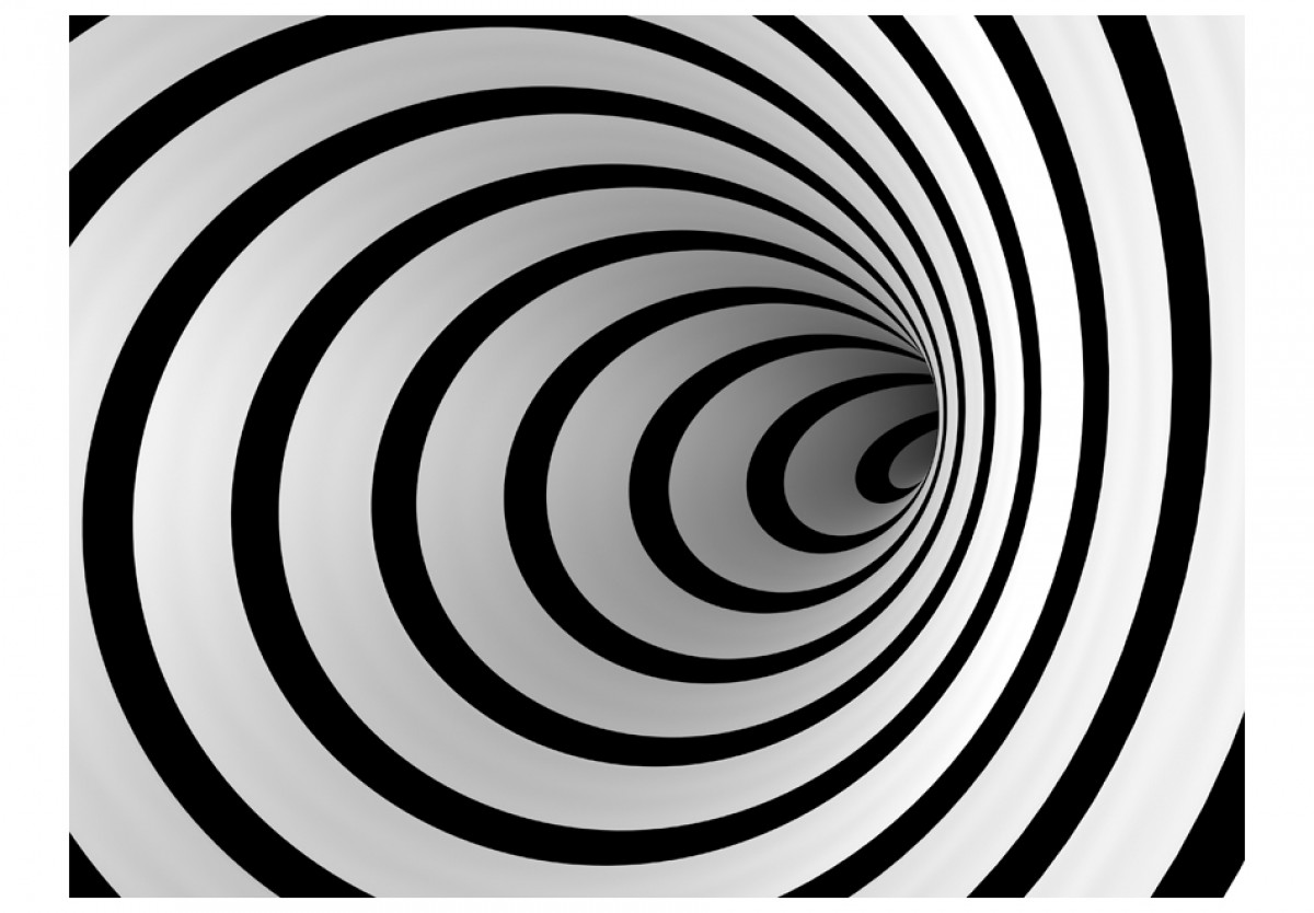 3D tapeta Èernobílý tunel - zvìtšit obrázek