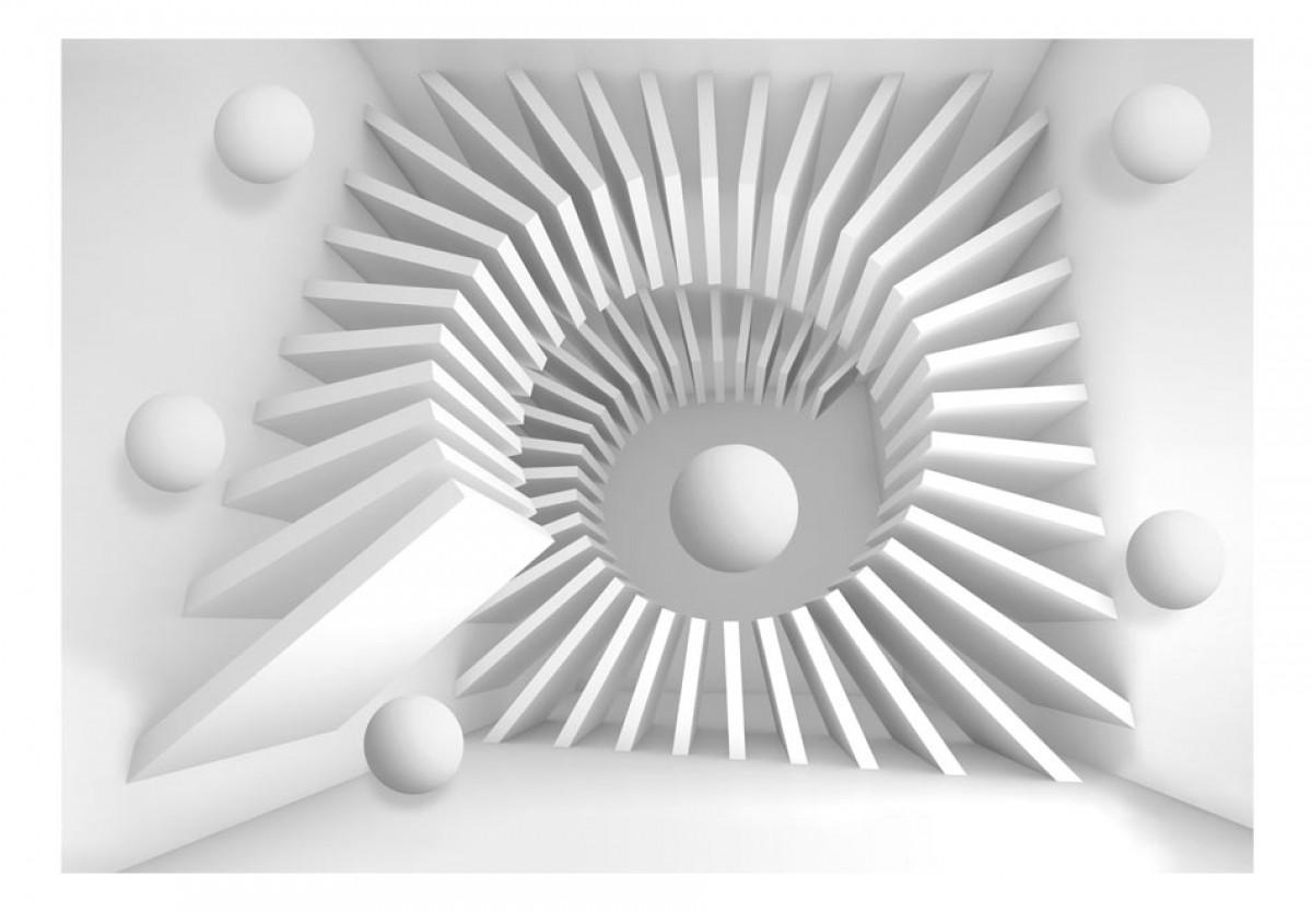 3D tapeta Bílá 3D