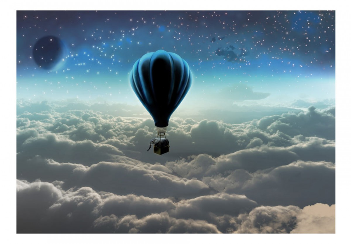 3D tapeta Vzducholodí nad mraky