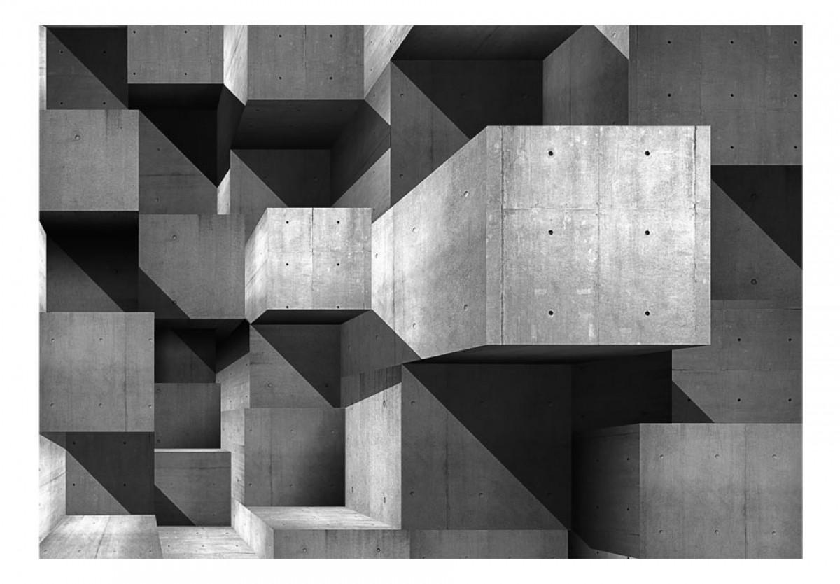 3D tapeta Betonové kvádry