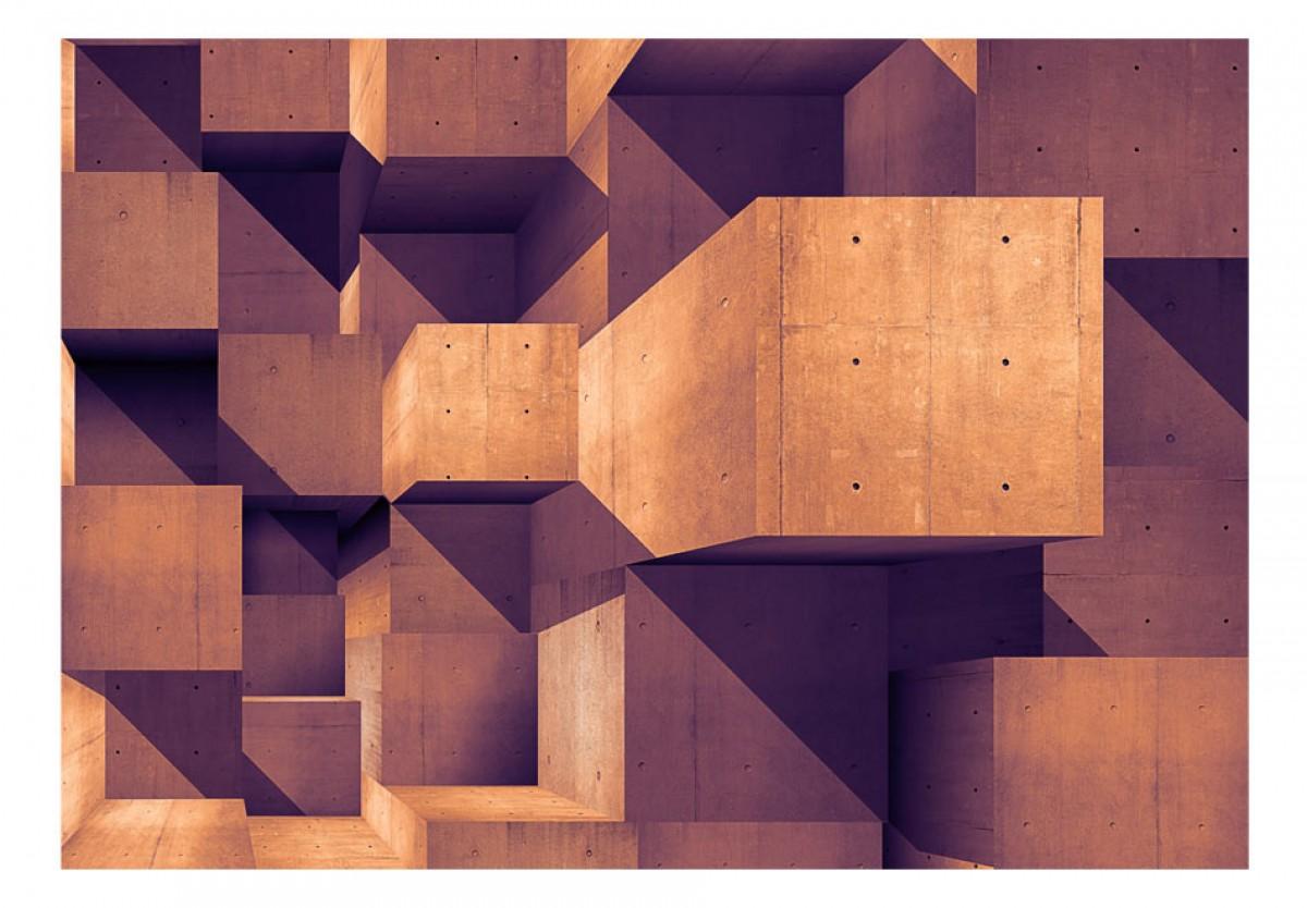 3D tapeta Zlatohnìdé kvádry - zvìtšit obrázek