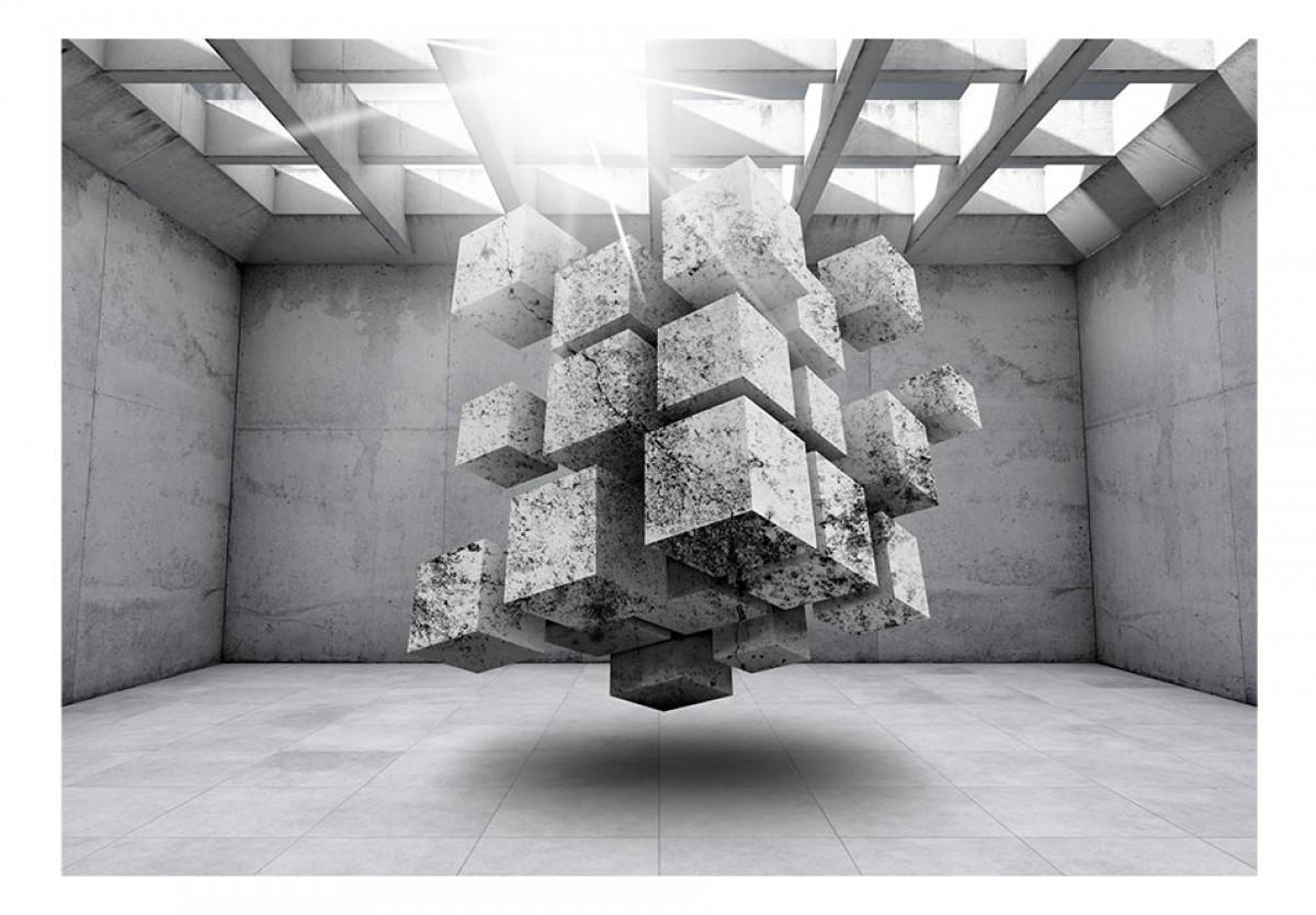 3D tapeta Kvádry v prostoru 2
