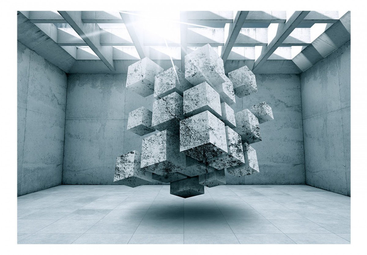 3D tapeta Kvádry v prostoru
