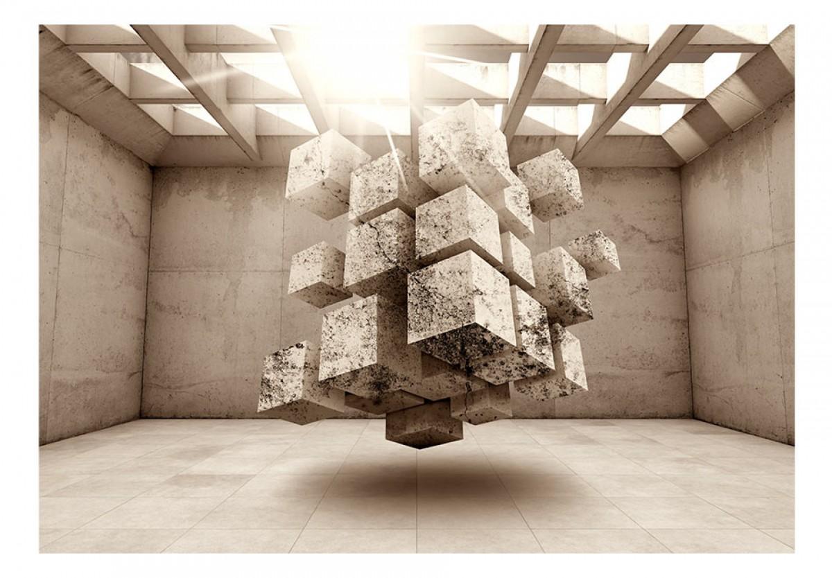 3D tapeta Kvádry v prostoru 3 - zvìtšit obrázek