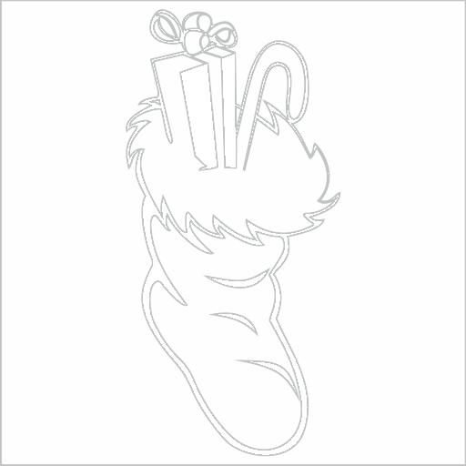 Samolepka Vánoèní ponožka