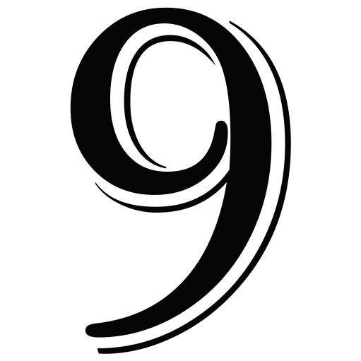 Nažehlovací èíslo na dres - 9 - Algerian - zvìtšit obrázek