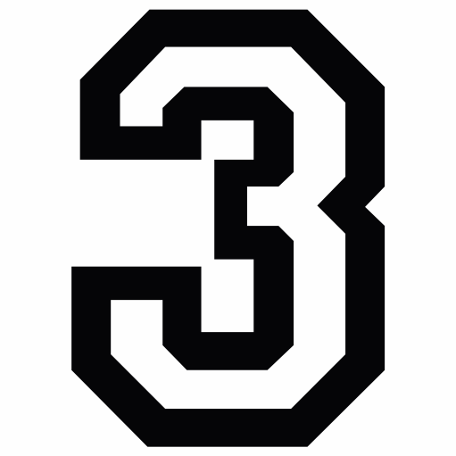 Nažehlovací èíslo na dres - 3 - Allstar