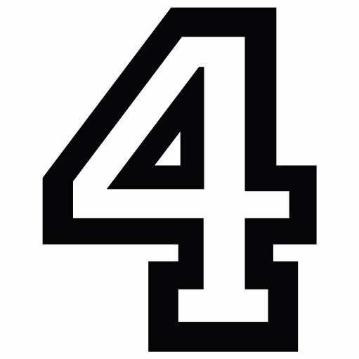 Nažehlovací èíslo na dres - 4 - Allstar