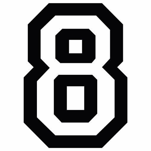 Nažehlovací èíslo na dres - 8 - Allstar