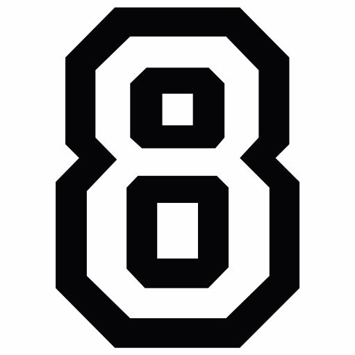 Nažehlovací èíslo na dres - 8 - Allstar - zvìtšit obrázek