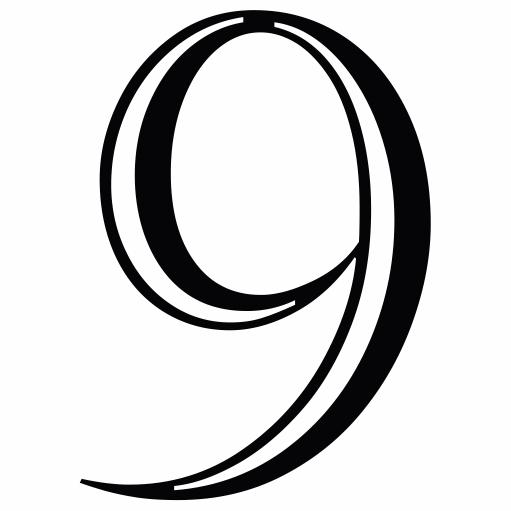 Nažehlovací èíslo na dres - 9 - Castellar