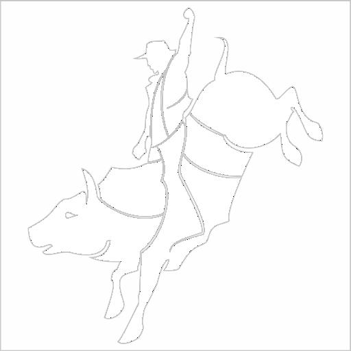 Samolepka Jezdec na koni