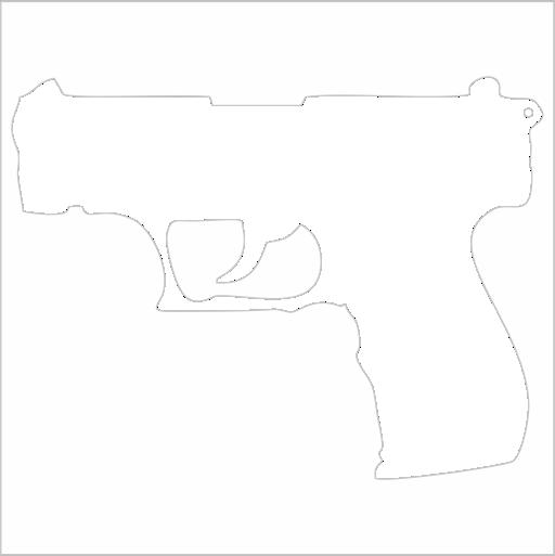 Samolepka Pistole
