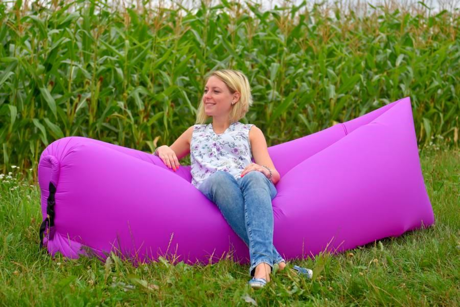 Samonafukovací lazy-bag - fialový