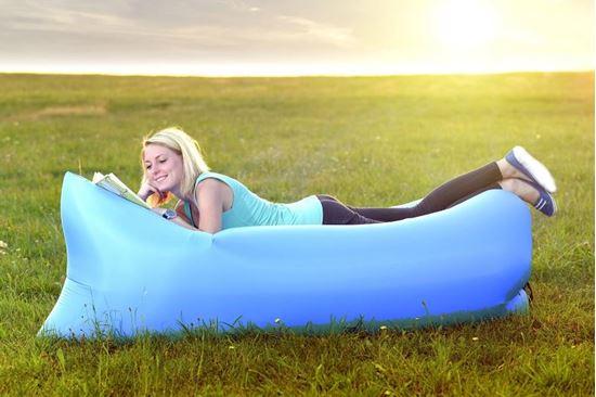 Samonafukovací lazy-bag - svìtlemodrý