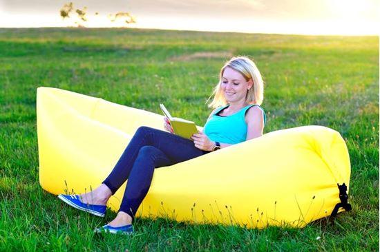 Samonafukovací lazy-bag - žlutý