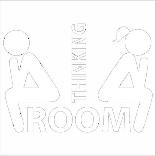 Samolepka Thinking room