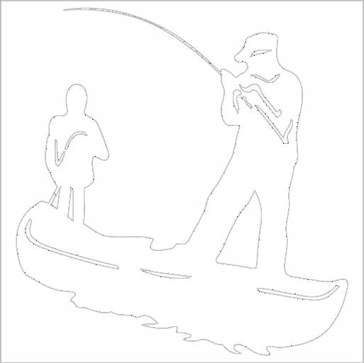 Samolepka Rybáøi - zvìtšit obrázek