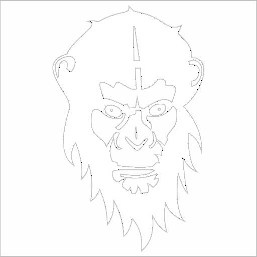 Samolepka Opice