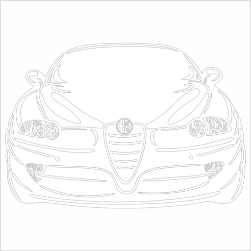 Samolepka Alfa Romeo 147