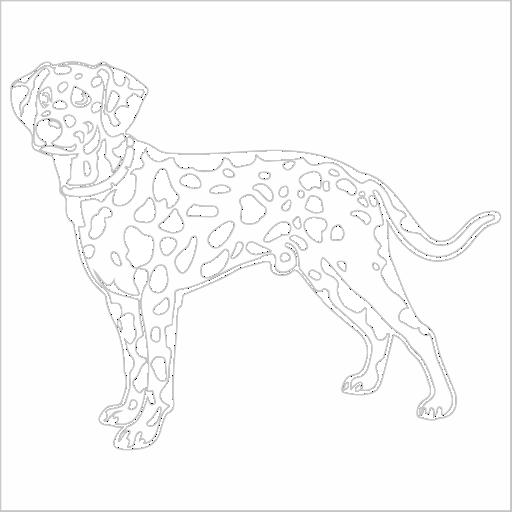 Samolepka Dalmatin - zvìtšit obrázek