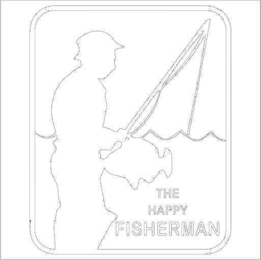 Samolepka Happy fisherman - zvìtšit obrázek