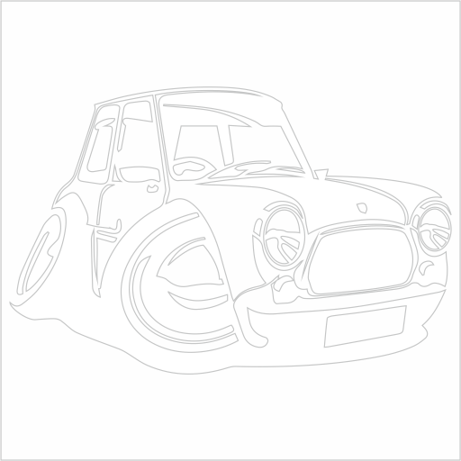 Samolepka karikatura Mini Cooper