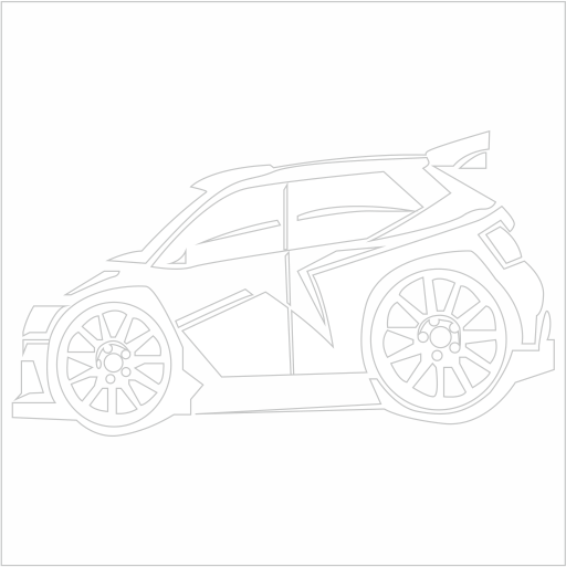 Samolepka karikatura Škoda WRC