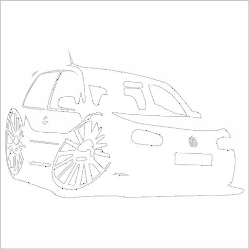 Samolepka karikatura Volkswagen Golf 4