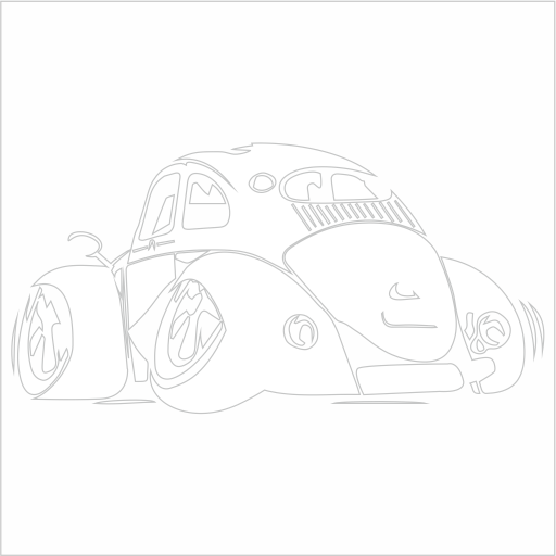 Samolepka karikatura VW Brouk - zvìtšit obrázek