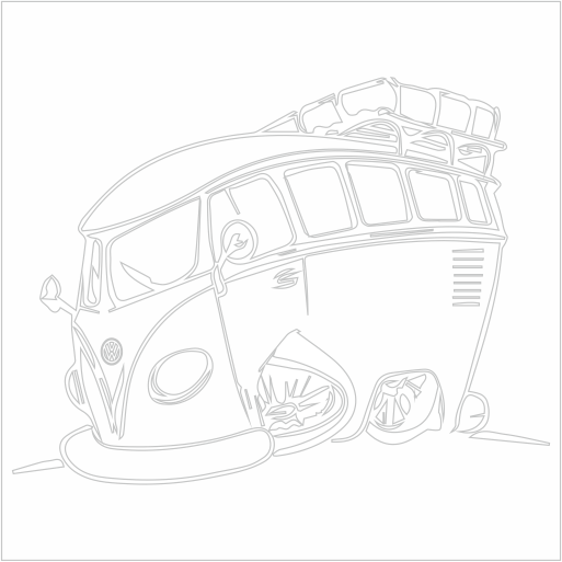 Samolepka karikatura Volkswagen T1 - zvìtšit obrázek