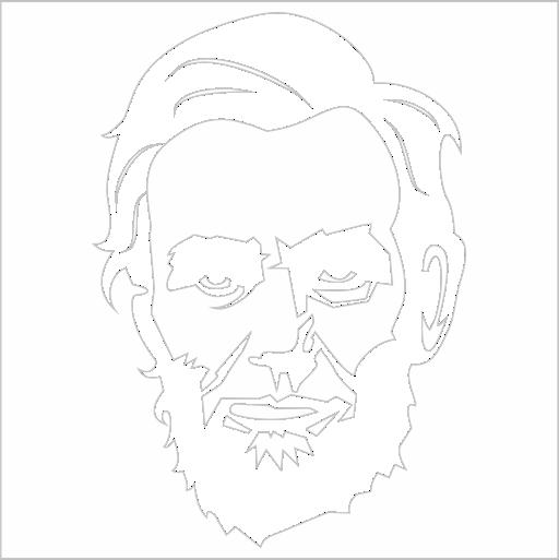 Samolepka Abraham Lincoln - zvìtšit obrázek
