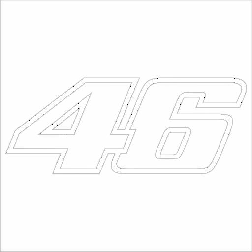 Samolepka Vale Rossi 46