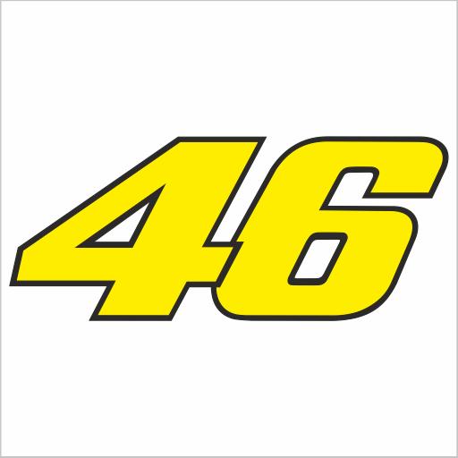 Samolepka Vale Rossi 46 barevná - zvìtšit obrázek