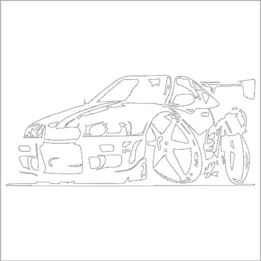 Samolepka karikatura Nissan Skyline - zvìtšit obrázek