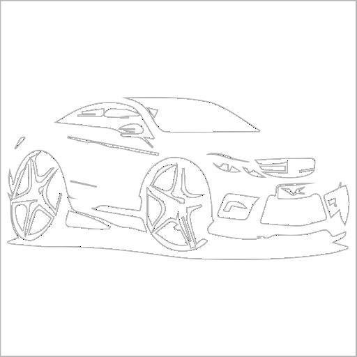 Samolepka karikatura Mercedes - zvìtšit obrázek