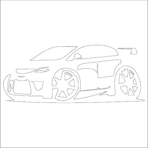 Samolepka karikatura Honda TypeR - zvìtšit obrázek