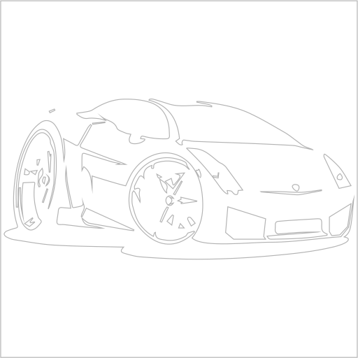 Samolepka karikatura Lamborghini Galardo - zvìtšit obrázek