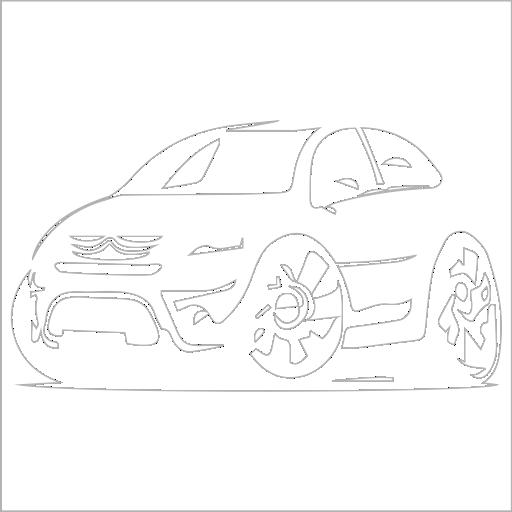 Samolepka karikatura Citroën C3 - zvìtšit obrázek