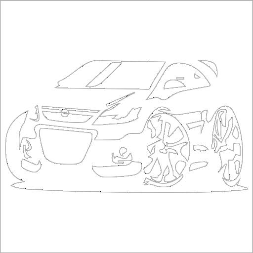 Samolepka karikatura Opel Astra OPC - zvìtšit obrázek