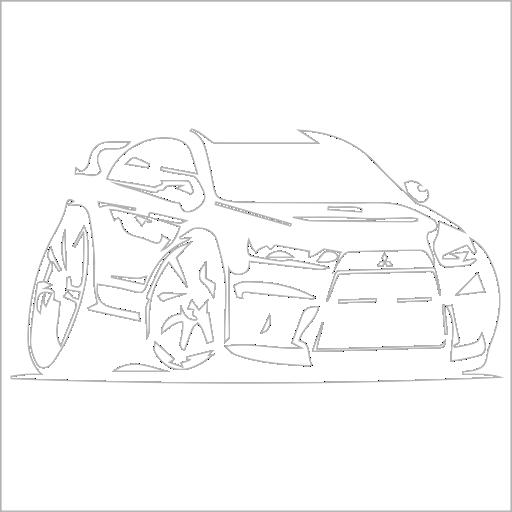 Samolepka karikatura Mitsubishi Lancer - zvìtšit obrázek