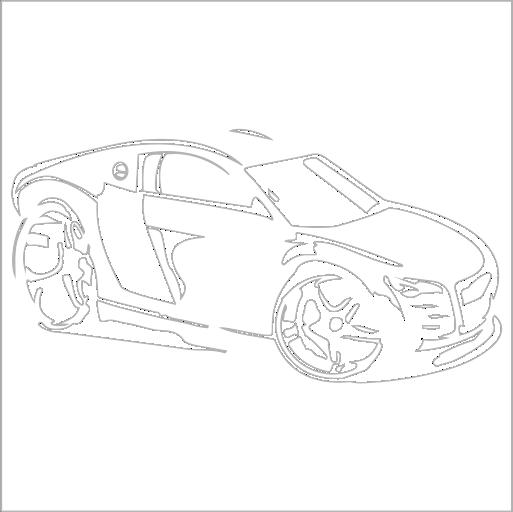 Samolepka karikatura Audi R8 - zvìtšit obrázek