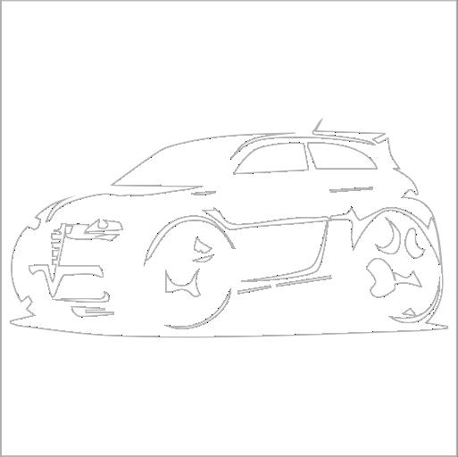 Samolepka karikatura Alfa Romeo 147 GTA - zvìtšit obrázek