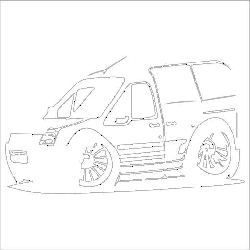 Samolepka karikatura Ford Tourneo - zvìtšit obrázek