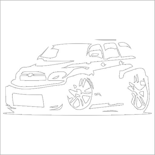 Samolepka karikatura Chevrolet - zvìtšit obrázek