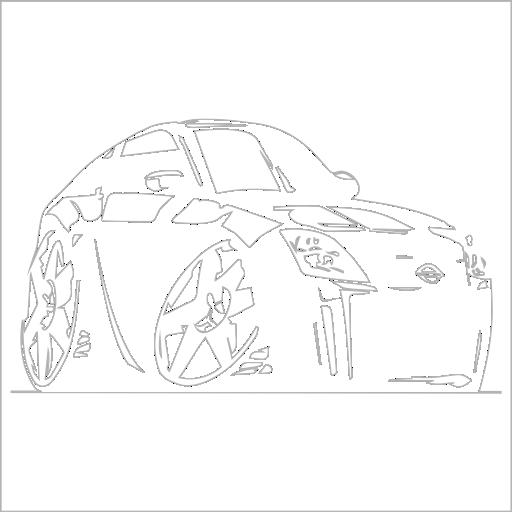Samolepka karikatura Nissan 350Z - zvìtšit obrázek