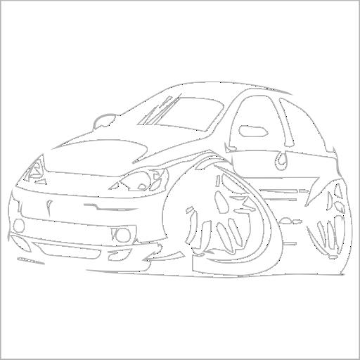 Samolepka karikatura Opel Corsa - zvìtšit obrázek